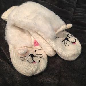 Plush Kitten Mittens